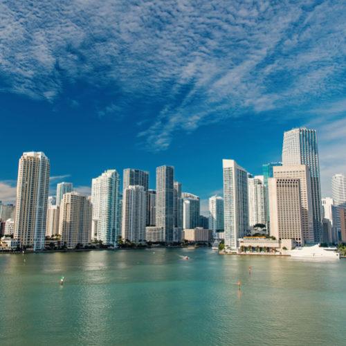 Bayfront Park & Miami Skyline